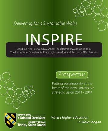 INSPIRE Prospectus - University of Wales Trinity Saint David