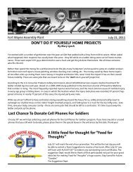 DON'T DO IT YOURSELF HOME PROJECTS A ... - UAW Local 2209