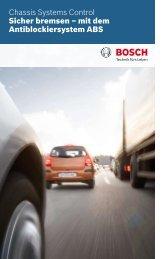 Sicher bremsen - mit dem Antiblockiersystem ABS - Bosch ...
