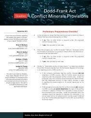 Dodd-Frank Act Conflict Minerals Provisions - Skadden