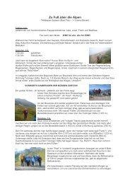 Zu Fuß ueber die Alpen - Lafit