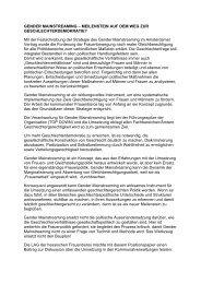 gender mainstreaming – meilenstein auf dem weg zur ... - Viernheim