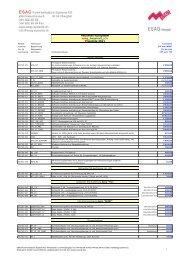Patienten-Rufsystem esag_hospicall_p3s Preisliste 2011