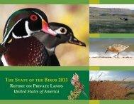 The State of the Birds 2013 - State of the Birds Report