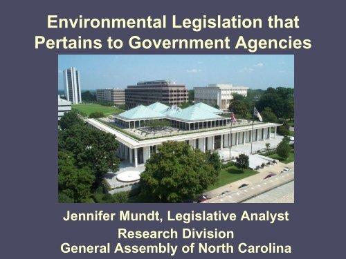 Environmental Legislation that Pertains to ... - NC Project Green