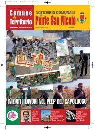 Notiziario settembre 2010 - Comune di Ponte San Nicolò