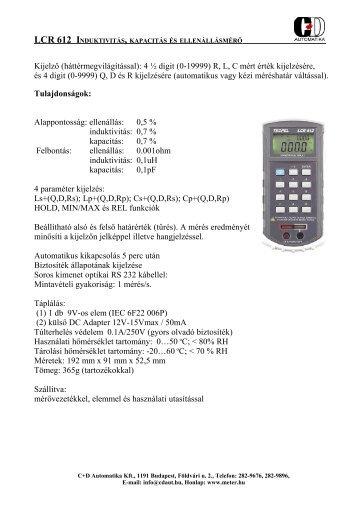LCR-612 - C+D Automatika Kft.