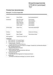 Protokoll vom 26. August 2010 - Gemeinde Lommiswil