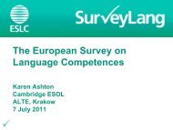 The European Survey on Language Competences - ALTE