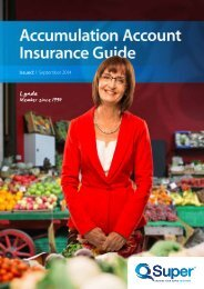 Accumulation Account Insurance Guide - Non-Queensland ... - QSuper