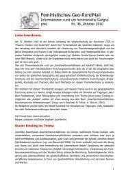 Nr. 46, Oktober 2010 - AK Geographie und Geschlecht