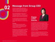 Chapter 02 : Message from Group CEO - SingTel
