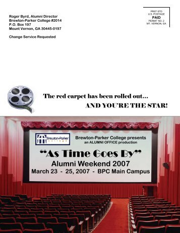 Alumni Weekend 2007 - Brewton-Parker College