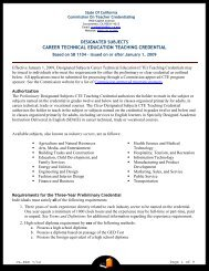 Designated Subjects Career Technical Education - Commission on ...