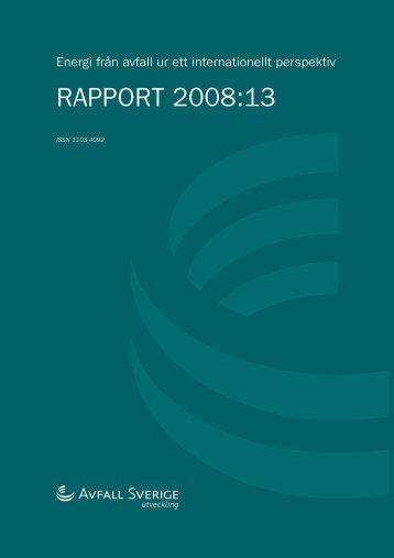 RAPPORT 2008:13 - Avfall Sverige