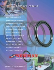 COMPANY PROFILE - Newman Sanitary Gasket Company
