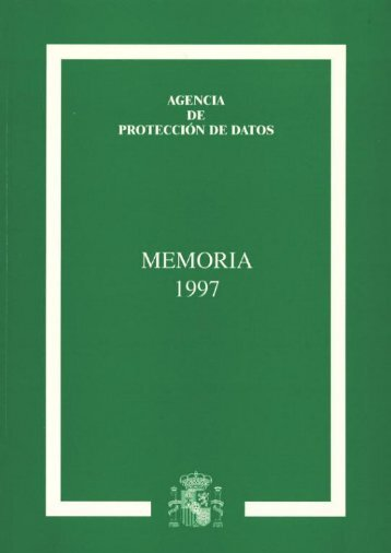1997 - Agencia Española de Protección de Datos