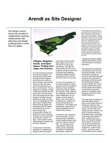 Arendt as Site Designer - Greener Prospects