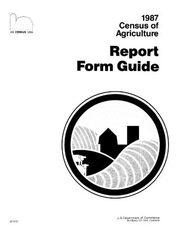 Report Form Guide - USDA Economics and Statistics System