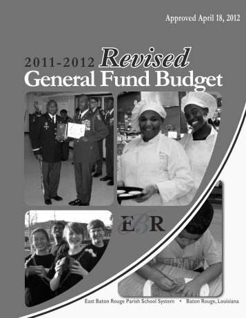 Revised 11-12 General Fund Budget - Business Affairs - East Baton ...