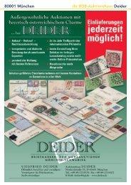 80801 München Ihr BDB-Auktionshaus Deider