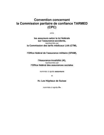 Convention concernant la Commission paritaire de confiance ...