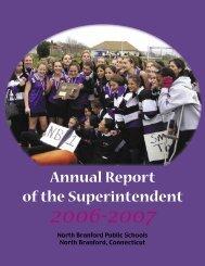 Annual Report of the Superintendent - North Branford Public Schools