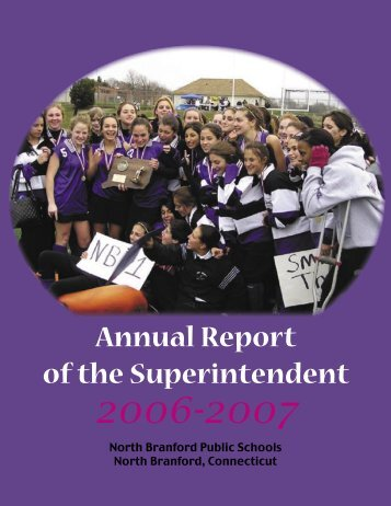 Annual Report of the Superintendent - North Branford Public Schools