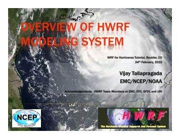 Vijay Tallapragada EMC/NCEP/NOAA