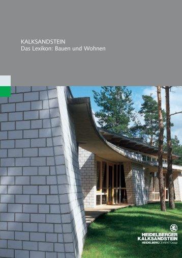 KALKSANDSTEIN Das Lexikon: Bauen und Wohnen