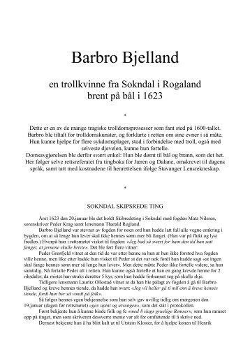 Barbro Bjelland - Bjerkreim.info