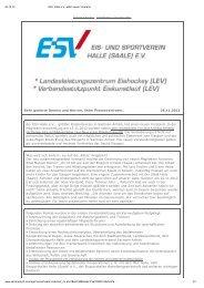 Pressemitteilung Neuer Vorstand - ESV Halle
