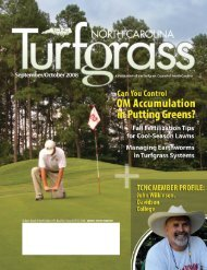 Turfgrass Council of North Carolina / P.O. Box 2163 ... - The Paginator