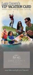 Lake County's VIP Vacation Card