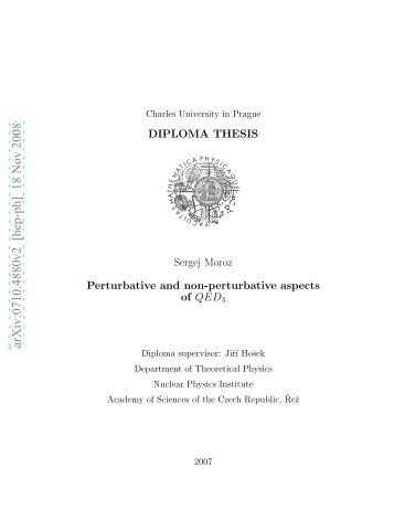 Thesis in physics