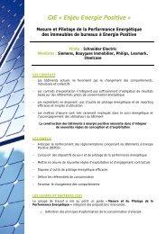 Mesure et Pilotage de la Performance Energétique des immeubles ...