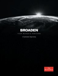 BROADEN - The Economist