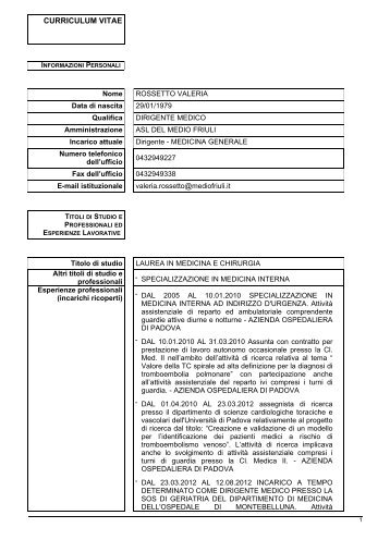 Rossetto Valeria - Medio Friuli