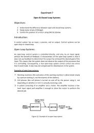 Objectives: Introduction: Open Loop Systems: