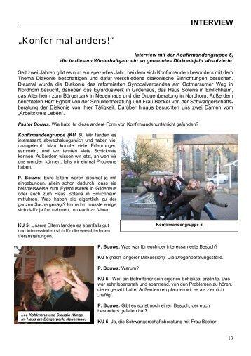 Magazin - Evangelisch-altreformierte Kirchengemeinde Uelsen
