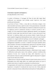 Il movimento cooperativo nel dopoguerra Di Andrea Bianchini e ...
