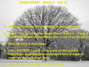 03-03-09 Soil Hydrology