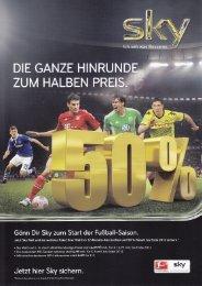 Gönn Dir Sky zum Start der Fußball-Saison. - Ginsberg