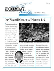 Our Waterfall Garden - St. Columban's on the Lake Retirement Home