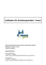 Leitfaden für Existenzgründer - Wirtschaftsförderung Korbach ...