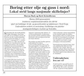 om mulig oljeboring i Lofoten (pdf). - Universitetet i Tromsø