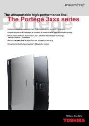 The Portégé 3xxx series - Toshiba