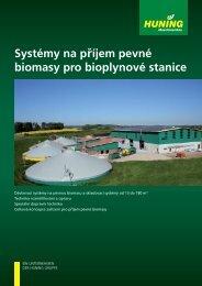 Systémy na příjem pevné biomasy pro bioplynové stanice - Huning ...