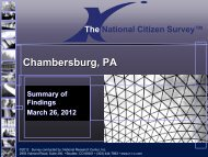 2012 National Citizen Survey Presentation - Borough Of ...