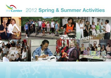 2012 Spring & Summer Activities - Community Services Center